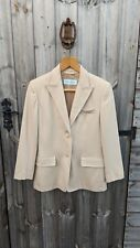 WOMEN'S MAX MARA UK 10 PURE 100% CAMEL HAIR BLOGGER ICON FITTED BLAZER JACKET
