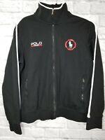 Vintage Ralph Lauren Polo Sport Spellout Jacket Sz. Medium Black Full Zip