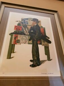 Norman Rockwell Jazz It Up Lithograph Hand Signed Saturday Evening Post Art A/P