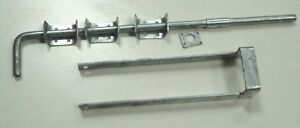 """Double Gate Throwover Loop And 24"""" Drop Bolt Galvanised All Fixings Included"""