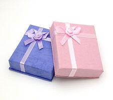 JOB LOT - 96 PINK & LILAC CARDBOARD GIFT  BOXES. EARRINGS PENDANTS  £0.50 each
