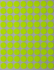 Neon Yellow Dot Stickers In Various Sizes 8mm 38mm Color Label In 15 Sheets