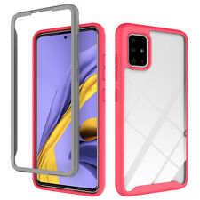 For Samsung Galaxy A51/A71/A20S Rugged Armor Frame Case Cover+Screen Protector