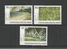 Islas Cocos (Keeling) 1987 escenas SG, 162-164 u/mm nh Lote 3791A