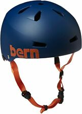 Bern MACON Brock Foam Hard Hat Skate BMX BIKE Helmet Blue S | M | L | XL | XXL