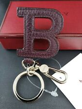 New Bally Sampo Merlot  Key Holder Keychain MSRP $200  MADE IN ITALY NO RESERVE