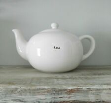 Pottery Barn Coffee House White Tea Pot - Farmhouse Kitchen