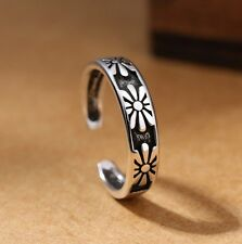 Silver Plated Daisy Flower Adjustable Open Rings For Women Girls Gift Box P26