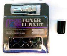 M2 MOTORSPORT M12 x 1.5 BLACK INTERNAL DRIVE WHEEL LUG TUNER NUTS SECURITY Y3366