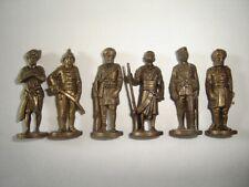 METAL FIGURINES SET - BRITISH INDIA SOLDIERS BRASS VINTAGE - KINDER SURPRISE