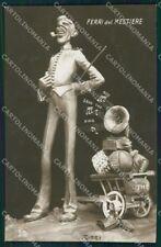 WW1 WWI Propaganda British Rizzi Gramophone RPPC cartolina postcard XF8121