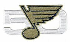St. Louis Blues 50th Anniversary Season Patch Gold Puck Style Stanley Cup