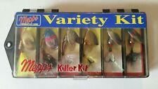 Rare Vintage Mepps Variety Killer Kit 6 Lures #3 XD - Aglia #2 Thunder Bug