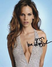 HILARY SWANK AUTHENTIC SIGNED 10X8 PHOTO AFTAL#198
