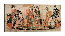 UTAMARO KITAGAWA Admirer la floraison Stampa su tela Canvas effetto dipinto