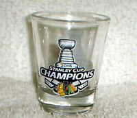 CHICAGO BLACKHAWKS 2015 NHL STANLEY CUP Champions Champs Shot GLASS