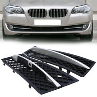 2pcs Front Bumper Fog Light Grill Cover Grille Trim For BMW 5 Series F10 F11