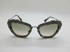 NEW Authentic MIU MIU SMU 04Q DHE-3H2 Marble Grey 55mm Sunglasses