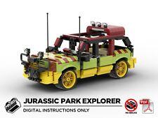 Lego MOC   Jurassic Park Explorer Car   PDF Instructions (NO BRICKS)