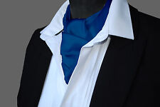 SATIN Neck Tie Cravat Ascot - ALL COLOURS