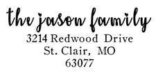 Custom Return Address Family Name Self Inking Stamp- Trodat 4913, Rubber Stamp,