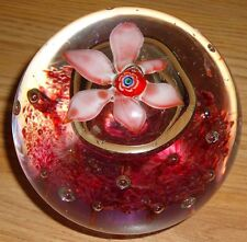 Pink Flower Glass Paper Weight