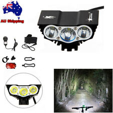 15000LM 3 XML U2 LED Bicycle Light Mountain Bike Lamp Waterproof With Taillight