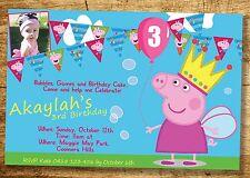 Peppa Pig Invitation Birthday Party Invite YOU PRINT Digital File Girls invitati