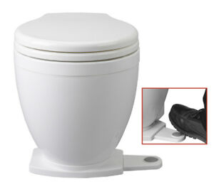 Jabsco Lite Flush Electric Marine Toilet With Foot switch 12V Boat Yacht PD5