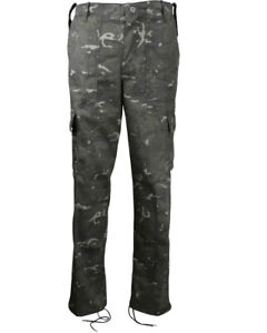 Mens BTP Black Camouflage Combat Cargo Trousers Tactical Military Army Pants UK