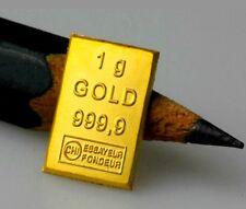 1 Gramm Goldbarren zertifiziert ESG Valcambi 1g 999,9 Gold Barren Geschenk