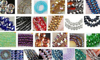 Wholesale 27 Colors 3x4mm Crystal Faceted Roundel Loose Beads Gems 5040 1000pcs