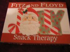 Fitz & Floyd Jolly Santa Snack Plate Christmas Nib