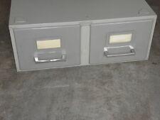meuble de métier métal rangement cd disque Val-rex fichier 2 tiroirs Deco loft