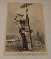 1879 magazine engraving ~ PARK STREET CHURCH STEEPLE, Boston