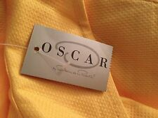 OSCAR DE LA RENTA YELLOW COTTON TRENCH COAT JACKET SUIT DRESS BLAZER 12 / L NWT