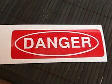 adesivo Danger decal sticker attenzione pericolo informativo cartello segnale