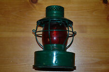 """Vtg Road Handlan Lantern """"Prop of Consolidated Edison Co, NY """" with Red Globe"""