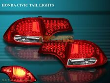 Fit For 2006-2011 HONDA CIVIC DX/EX/GX/LX/SI SEDAN 4-DOOR LED TAIL LIGHTS 4PIECE