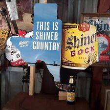 """SHINER TEXAS BOCK  32""""X 31"""" TIN SIGN BREWERY ALCOHOL TIN NEW"""