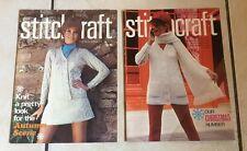 2 X STITCHCRAFT VINTAGE KNITTING  MAGAZINES 1969 November December
