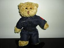 Police Hero Teddy Bear Brown Plush 8in. Full Uniform Retirees of Ontario Canada