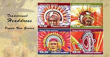 PAPUA-NEW GUINEA 2015 HEADDRESSES PAIR OF MINISHEETS MNH