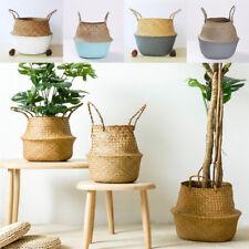 Seagrass Rattan Basket Wicker Storage Basket Plant Pot Storage Laundry Organizer