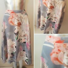 Grey Abstract Print Floral Skirt Size 14 Fenn Wright Manson  Summer Wedding (8)