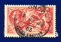 1934 SG451 5s Bright Rose-Red N74 London 13 JLY 38 Good Used Cat £85 daqt
