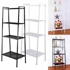 4 Tiers Ladder Shelf Ladder Bookcase Bookshelf Display Plant Stand Storage Rack