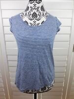 Joie Striped Top Womens Extra Small Blue White Shirt Lightweight Casual Ladies