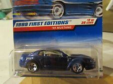 Hot Wheels '99 Mustang 1999 First Editions Blue rare