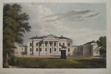 HACKWOOD PARK - SEAT of LORD BOLTON - Hand Colored Print